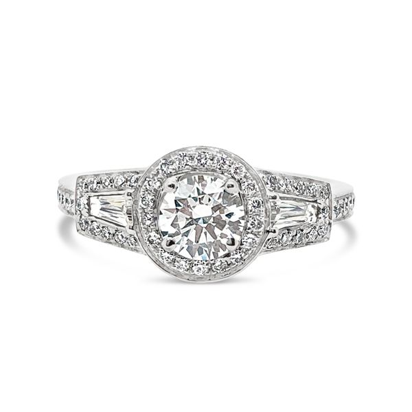 Forevermark Three-Stone Halo Engagement Ring Padis Jewelry San Francisco, CA
