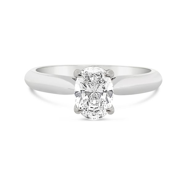 18K White Gold Forevermark Solitaire Engagement Ring Padis Jewelry San Francisco, CA