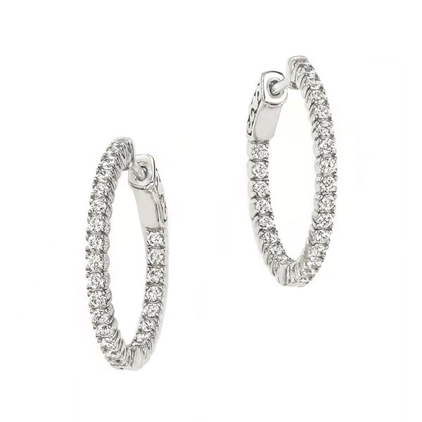 Forevermark Diamond Hoop Earrings Padis Jewelry San Francisco, CA
