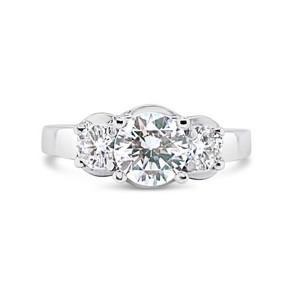 Forevermark Three-Stone Engagement Ring Padis Jewelry San Francisco, CA