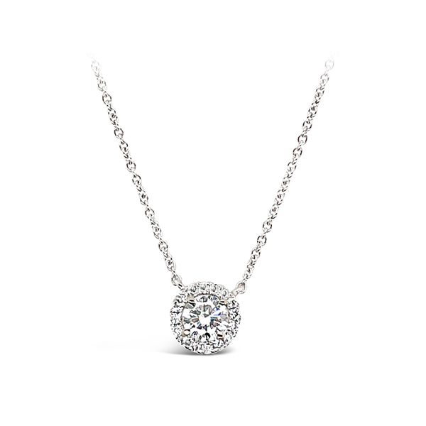 0.21ct Forevermark Diamond Halo Necklace Padis Jewelry San Francisco, CA