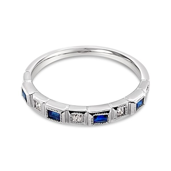 Ladies' Diamond and Sapphire Stackable Ring Padis Jewelry San Francisco, CA