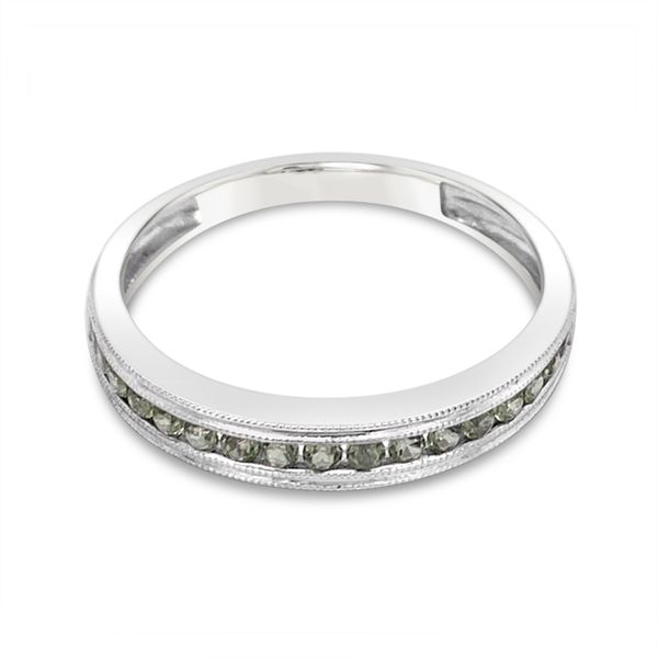 14KT White Gold Peridot Stackable Ring Padis Jewelry San Francisco, CA
