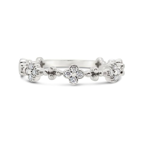 Ladies' 14K White Gold Stackable Diamond Band Padis Jewelry San Francisco, CA