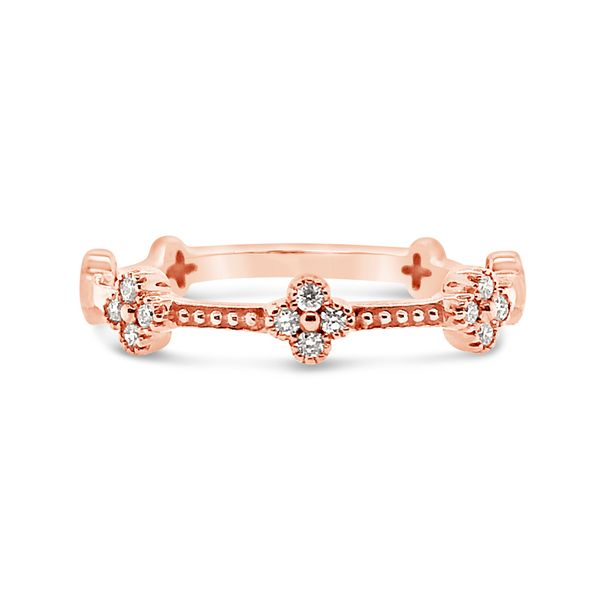 14K Rose Gold Stackable Diamond Band Padis Jewelry San Francisco, CA