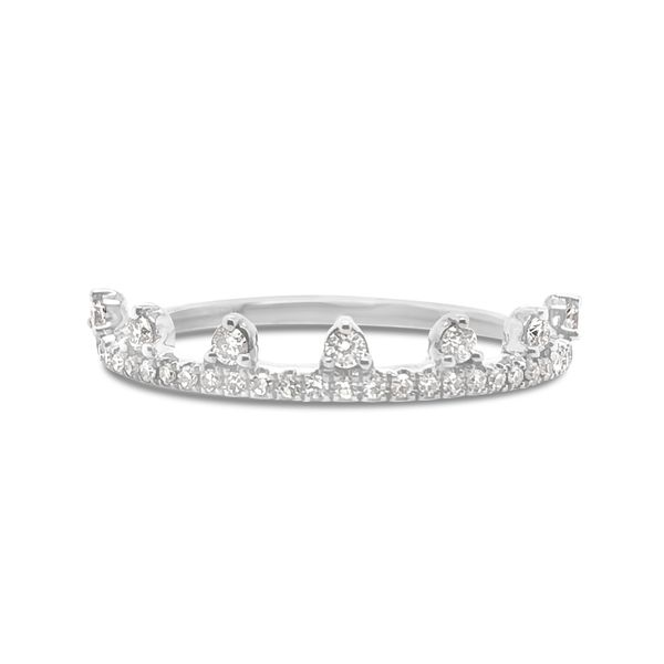 14K White Gold Stackable Diamond Band Padis Jewelry San Francisco, CA