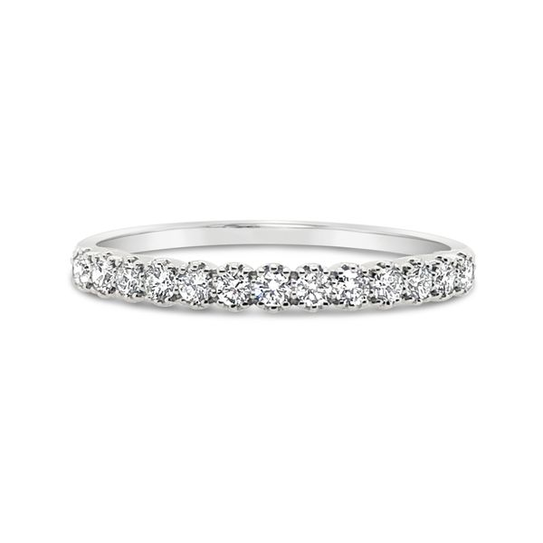 14K White Gold Diamond Stackable Band Padis Jewelry San Francisco, CA