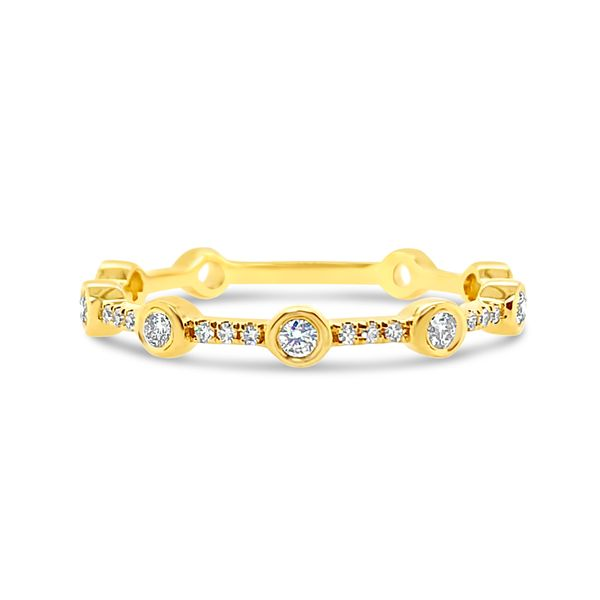 Ladies' 14K Yellow Gold Stackable Diamond Band Padis Jewelry San Francisco, CA