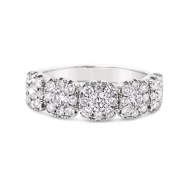 18 KT White Gold Diamond Band Padis Jewelry San Francisco, CA