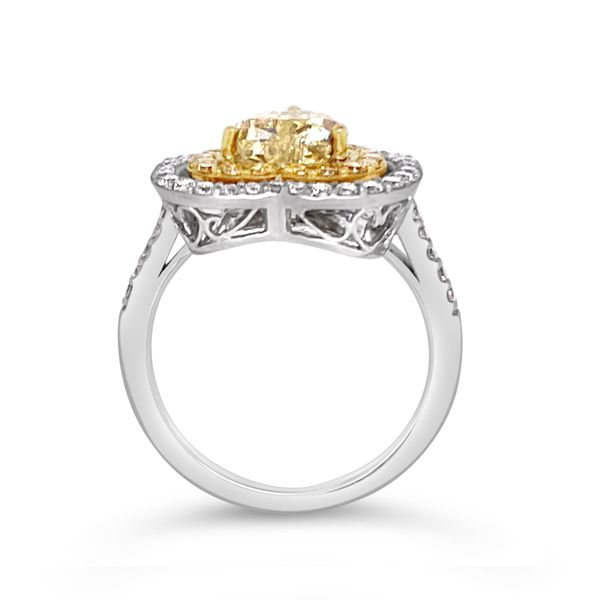 Fancy Yellow Diamond Halo Ring Image 2 Padis Jewelry San Francisco, CA
