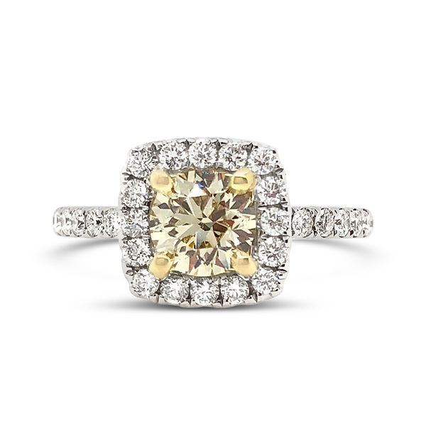 Fancy Brown Diamond Halo Ring Padis Jewelry San Francisco, CA