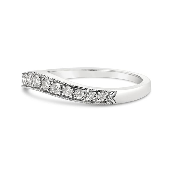 18KT White Gold Curved Diamond Ring Image 2 Padis Jewelry San Francisco, CA