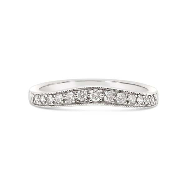 18KT White Gold Curved Diamond Ring Padis Jewelry San Francisco, CA