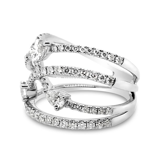 18K White Gold Diamond Fashion Ring Image 2 Padis Jewelry San Francisco, CA