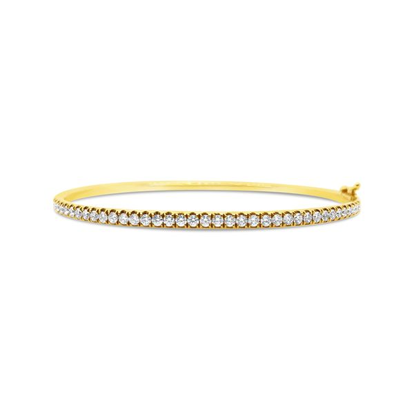 18KT Yellow Gold Diamond Bangle Bracelet Padis Jewelry San Francisco, CA