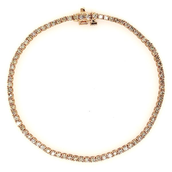 14KT Rose Gold Diamond Tennis Bracelet Padis Jewelry San Francisco, CA