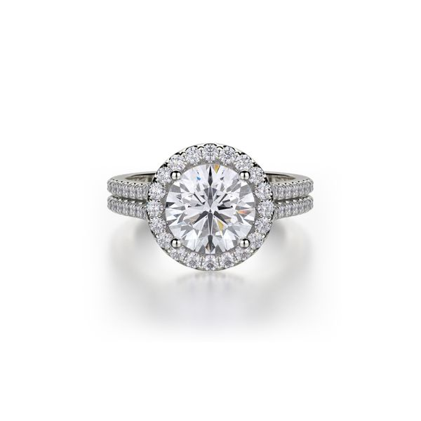 Michael M. Halo Diamond Ring Padis Jewelry San Francisco, CA