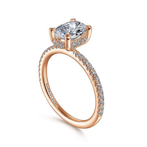Gabriel & Co. Diamond Engagement Ring Image 2 Padis Jewelry San Francisco, CA