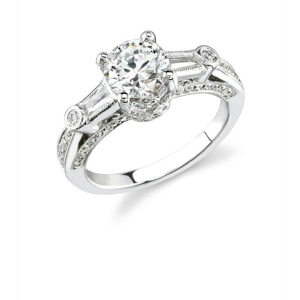 Natalie K Three-Stone Engagement Ring Padis Jewelry San Francisco, CA