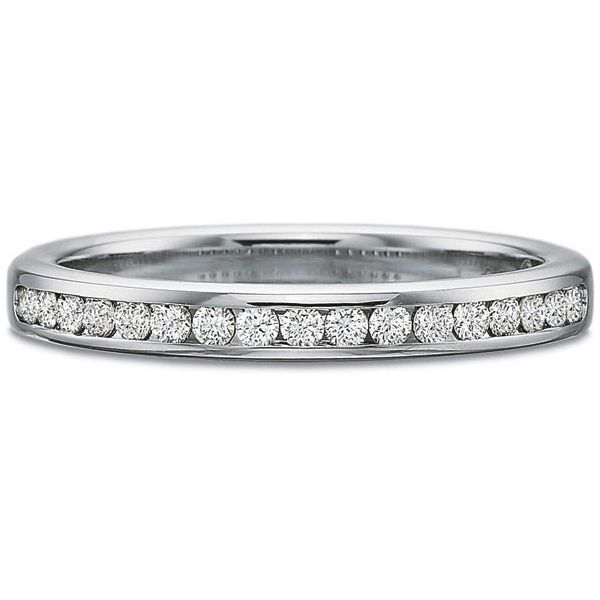 Precision Set Wedding Ring | 18K White Gold Channel Set Eternity Diamond Band | Style No. 001-711-00613