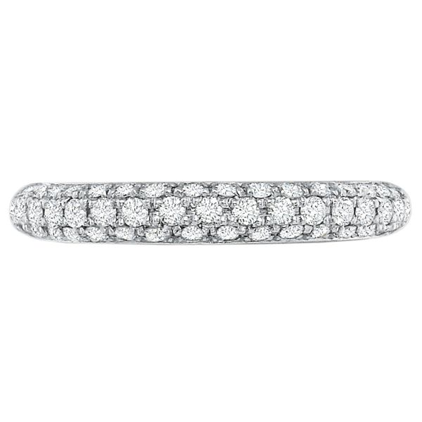 Precision Set Wedding Ring | Domed Pavéé Eternity Diamond Ring | Style No. 001-711-00160