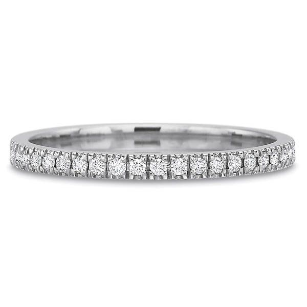 Precision Set Wedding Ring | 18K White Gold Pavéé Eternity Diamond Ring | Style No. 001-711-00699
