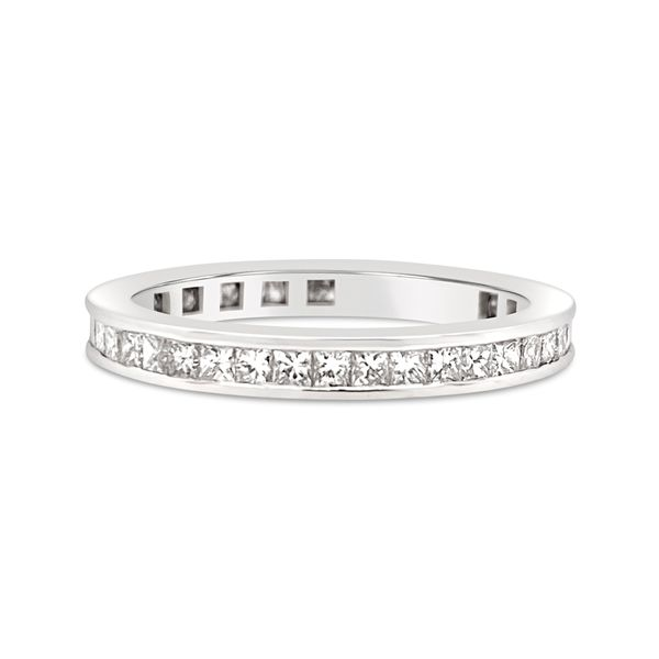 18KT White Gold Channel Set Eternity Ring Padis Jewelry San Francisco, CA