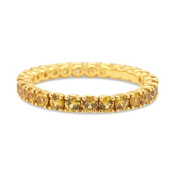 18KT Yellow Gold and Yellow Sapphire Eternity Band Padis Jewelry San Francisco, CA
