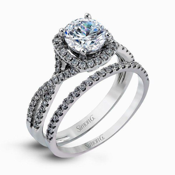 Simon G. Diamond Wedding Set Padis Jewelry San Francisco, CA