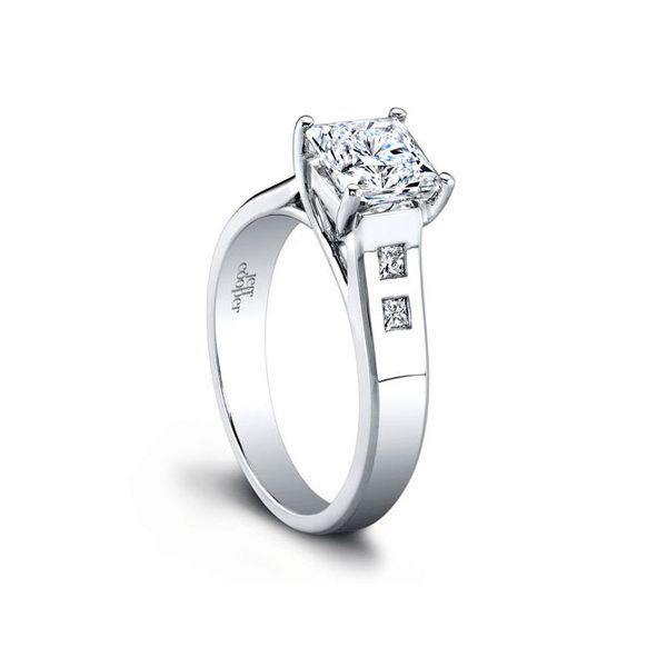 Jeff Cooper | 18K White Gold Setting with Princess Center | Style No. 001-730-00834 R2964/PW