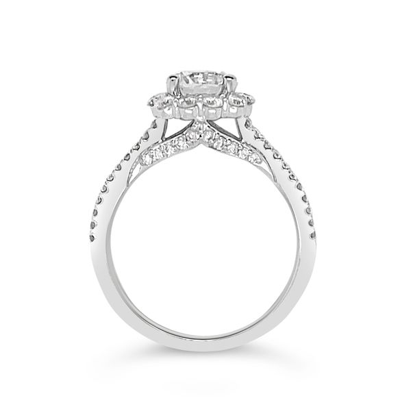 Scott Kay 14K White Gold Halo Engagement Ring Image 2 Padis Jewelry San Francisco, CA