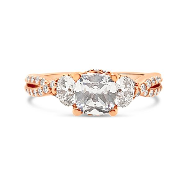 Scott Kay 14K Rose Gold and Diamond Engagement Ring Padis Jewelry San Francisco, CA