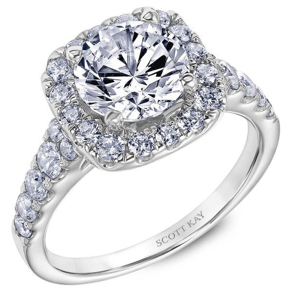 Scott Kay Halo Diamond Ring Padis Jewelry San Francisco, CA