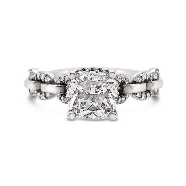 Scott Kay 14K White Gold Diamond Engagement Ring Padis Jewelry San Francisco, CA