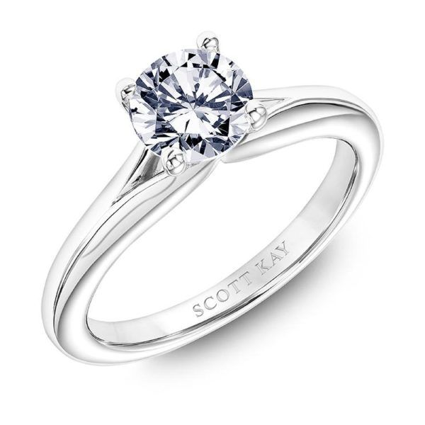 Scott Kay Solitaire Engagement Ring Padis Jewelry San Francisco, CA