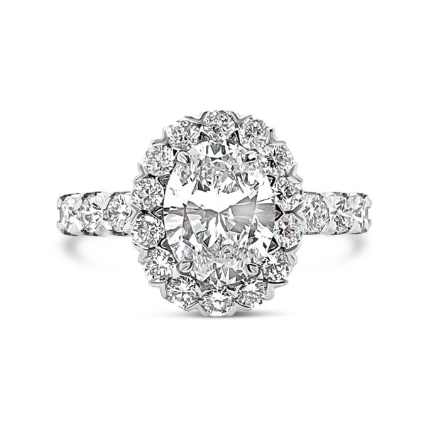 Christopher Designs Halo Engagement Ring Padis Jewelry San Francisco, CA