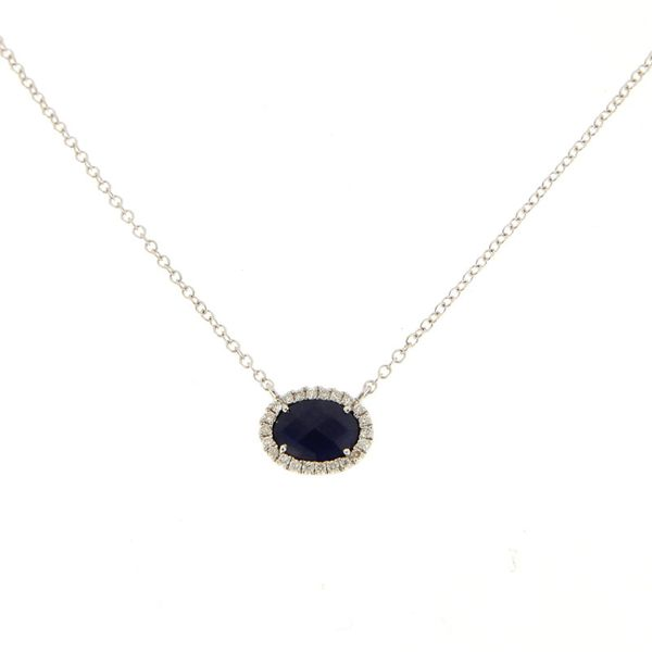Meira T. Sapphire and Diamond Necklace Padis Jewelry San Francisco, CA