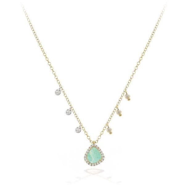 Meira T Amazonite and Diamond Necklace Padis Jewelry San Francisco, CA