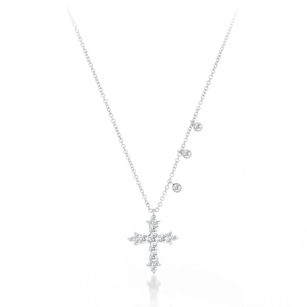 Meira T Diamond Cross Necklace Padis Jewelry San Francisco, CA