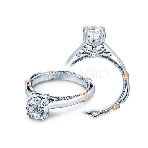 Verragio white gold solitaire engagement ring D120-0
