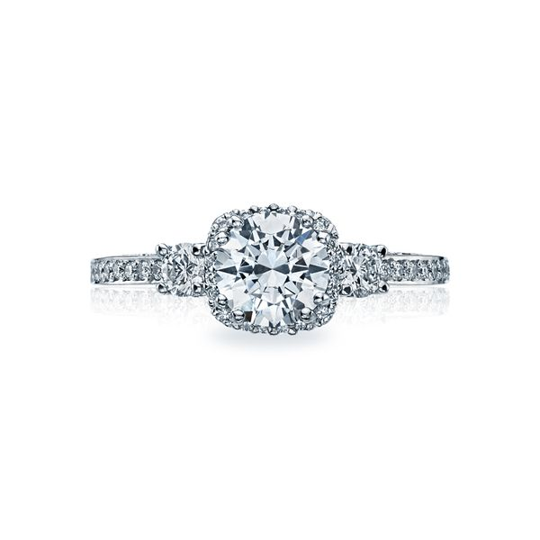 Tacori Dantela Collection | White Gold Three Stone Engagement Ring | Style No. 001-760-02857