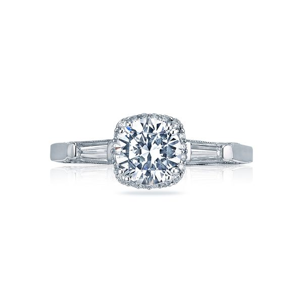 Tacori Dantela Collection | Unique Engagement Ring with Tapered Baguettes | Style No. 001-760-03084
