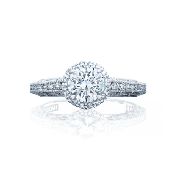 Milgrain Channel Engagement Ring Setting 2618RD6W