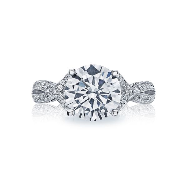 Tacori Ribbon Collection | Pavé Set Round Diamond Engagement Ring | Style No. 001-760-03235
