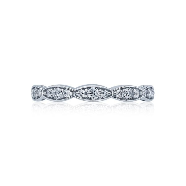 Tacori Sculpted Crescent Collection | Woman's White Gold Pavéé Wedding Band | Style No. 001-760-03241