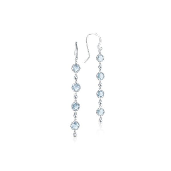 Tacori Sonoma Skies Collection | Sterling Silver Sky Blue Topaz Drop Earrings | Style No 001-761-01022. SE21402