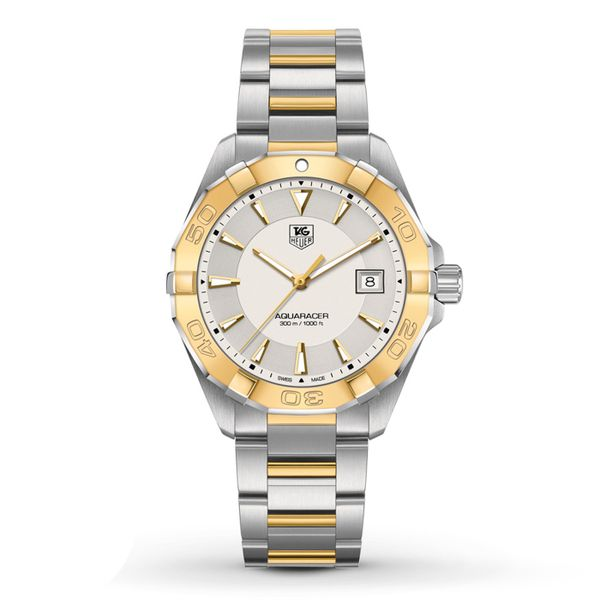 TAG Heuer Men's Aquaracer Two Tone Watch Image 2 Padis Jewelry San Francisco, CA