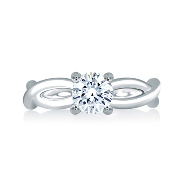 A. Jaffe Solitaire Engagement Ring Padis Jewelry San Francisco, CA