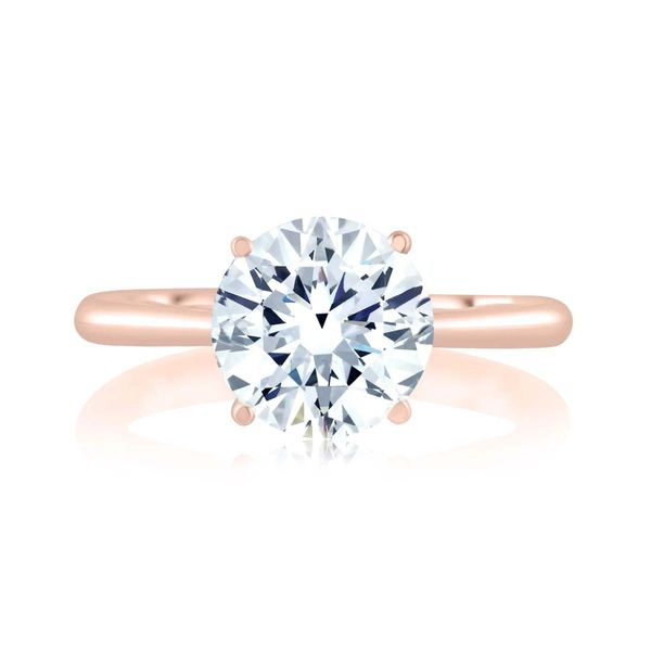 A Jaffe 14KT Rose Gold Solitaire with Hidden Halo Padis Jewelry San Francisco, CA