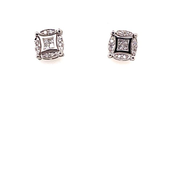 Adjustable Diamond Earrings Image 2 Perry's Emporium Wilmington, NC